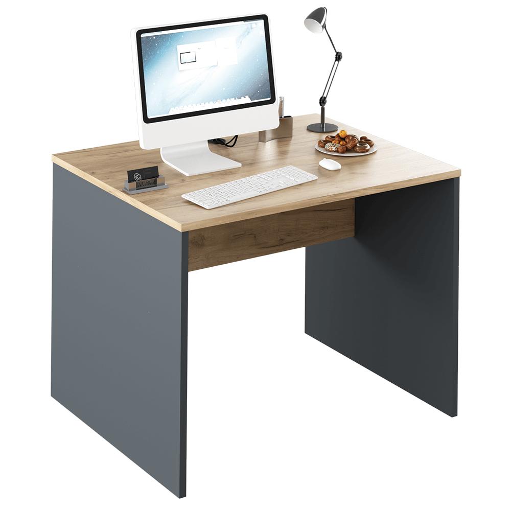Masă de birou, grafit/stejar artisan, RIOMA NEW TYP 12