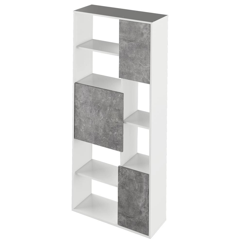 Regálé, fehér/beton, ULIMI