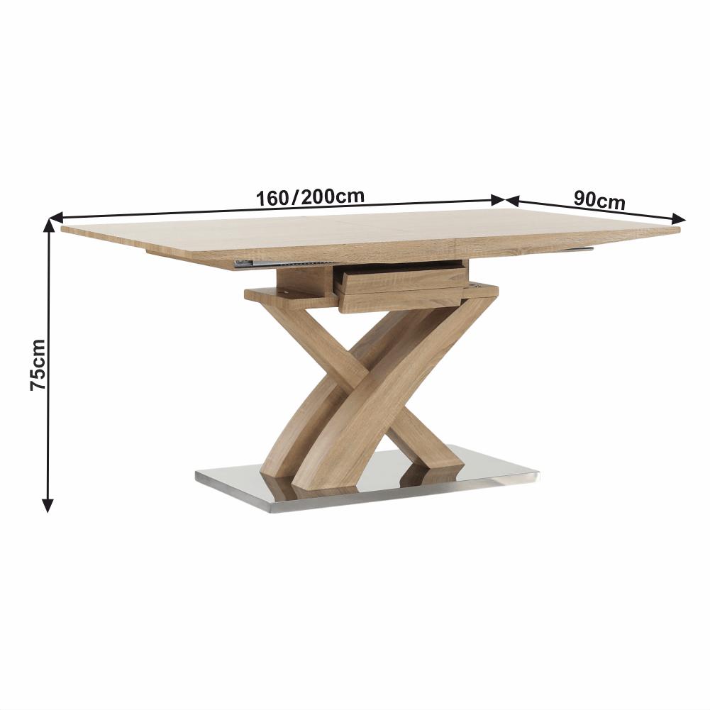 Étkezőasztal, tölgy, BONET NEW TIP 2
