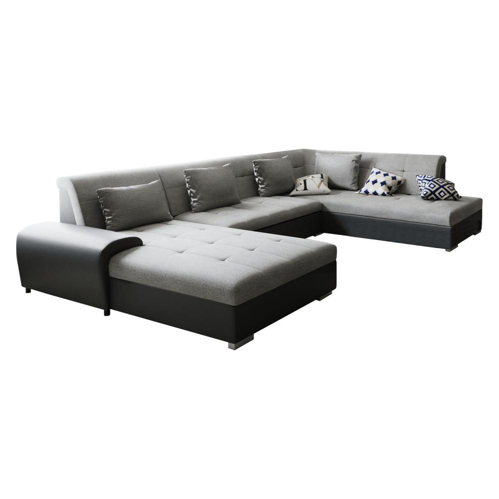 Canapea, gri/negru, model dreapta, LIBERTO U