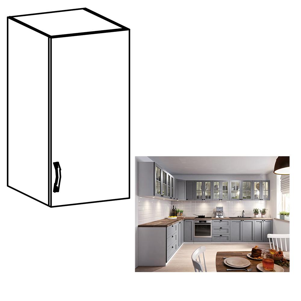 Cabinet superior, alb/gri mat, model dreapta, LAYLA G40