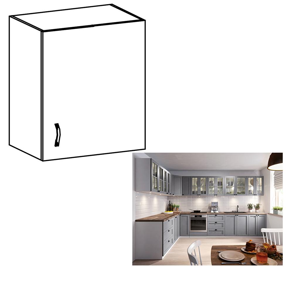 Cabinet superior, alb/gri mat, model dreapta, LAYLA G601F