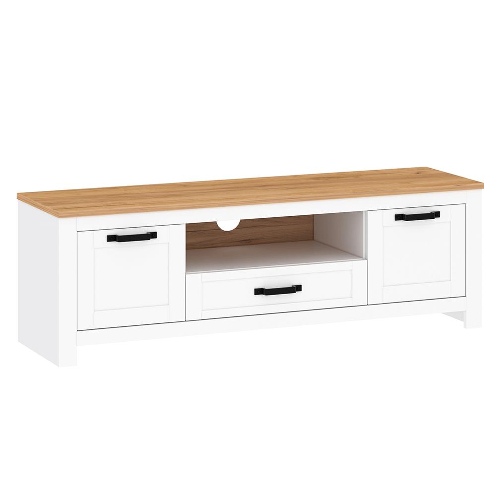 RTV asztal, fehér alba/tölgy craft arany, LANZETTE B