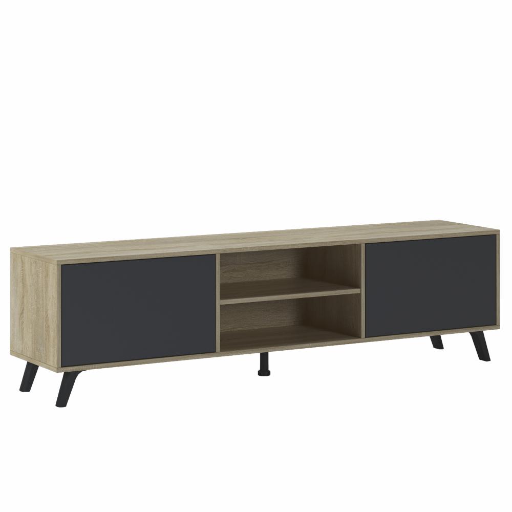 RTV asztal, sonoma tölgy/szürke, HURON