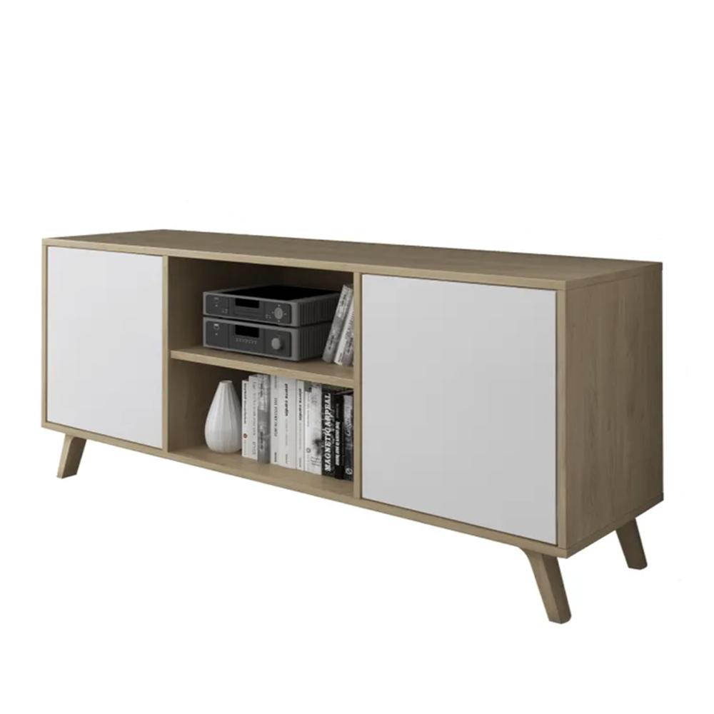 RTV asztal 140, tölgyfa puccini/fehér, LAND