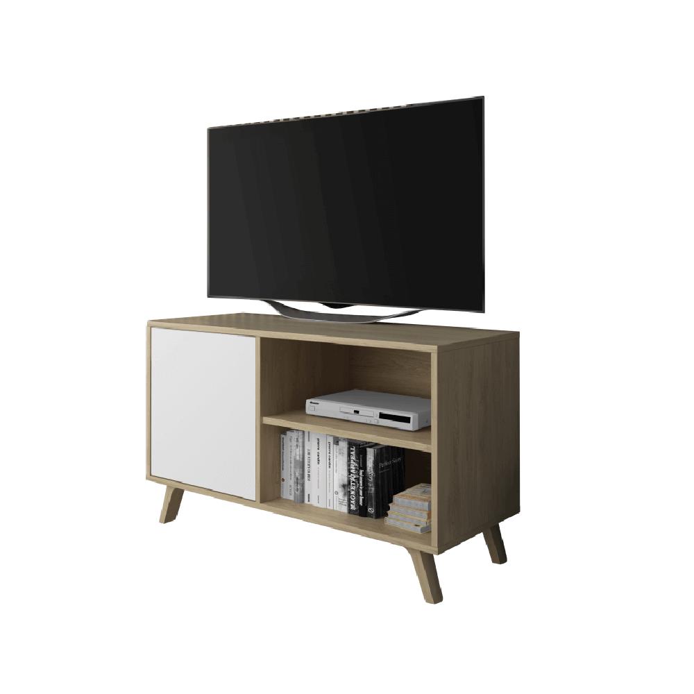 RTV asztal 100, tölgyfa puccini/fehér, LAND