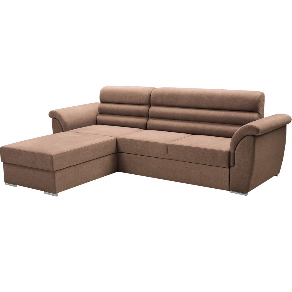 Set de canapea, ţesătură maro, stânga, FABO