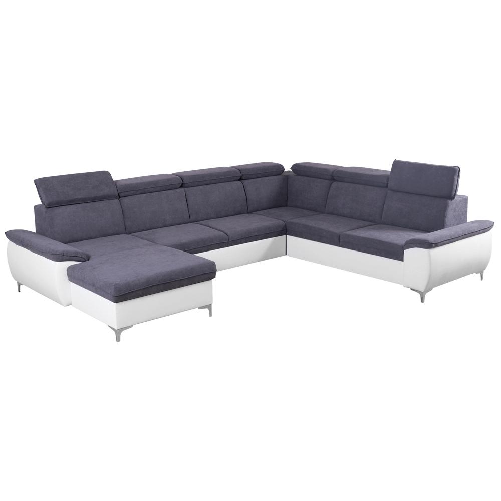 Canapea, gri/alb, model stânga, MARELIA
