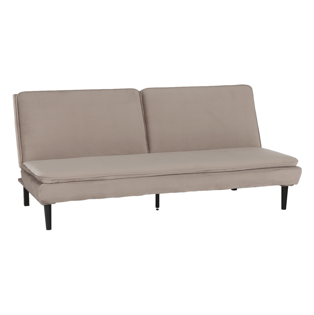 Canapea extensibilă, material textil Velvet gri maro TAUPE, BUFALA