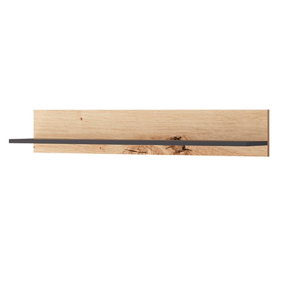 Raft FP 102, stejar artisan/negru, FORSO