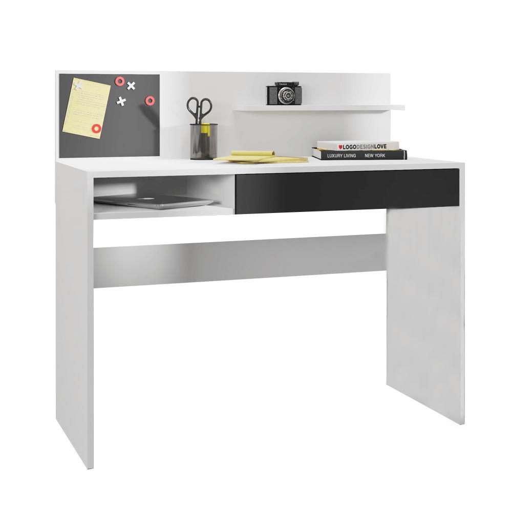 Birou PC cu placă magnetică, alb / negru, IMAN