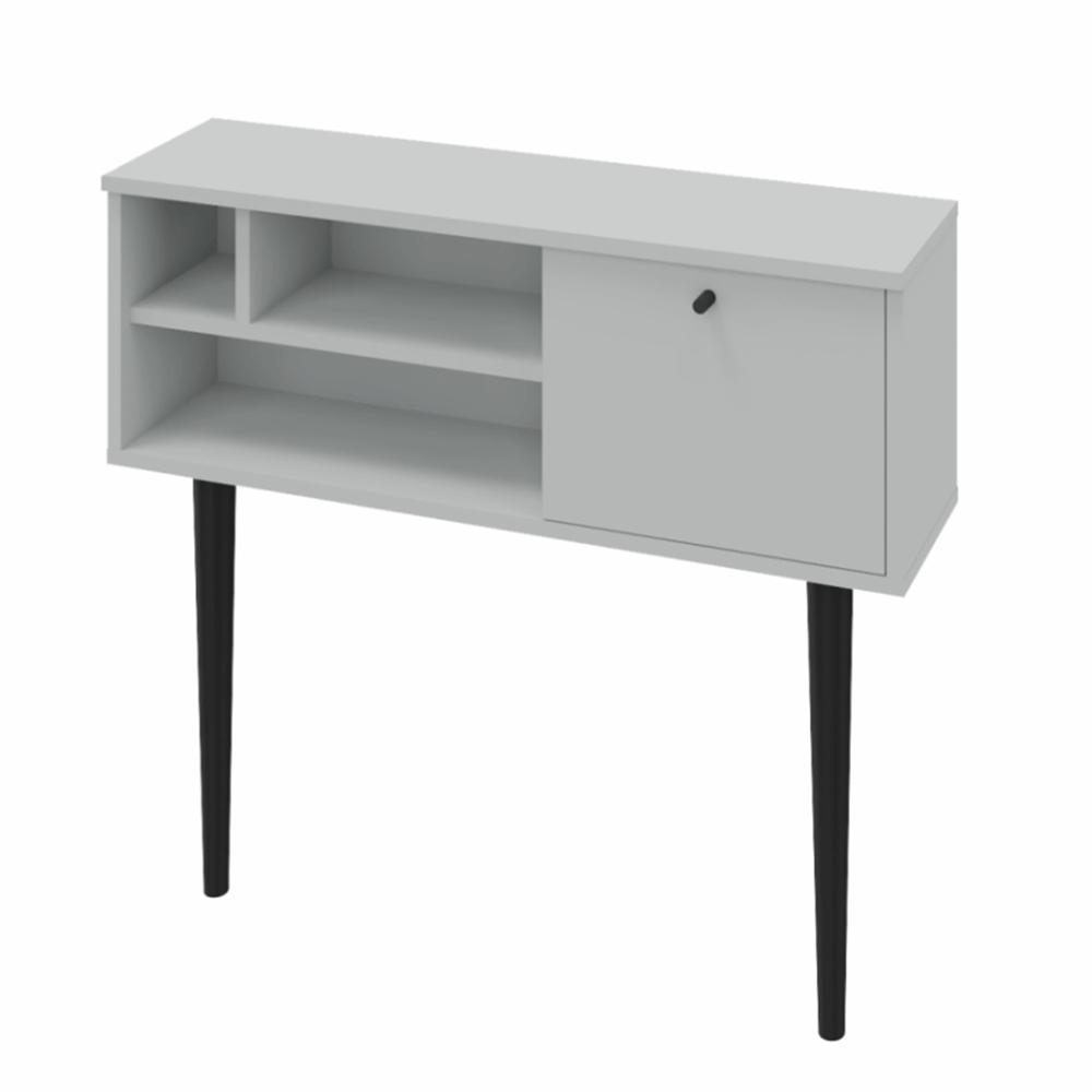 Consola de masă, gri deschis / negru, DEMONT