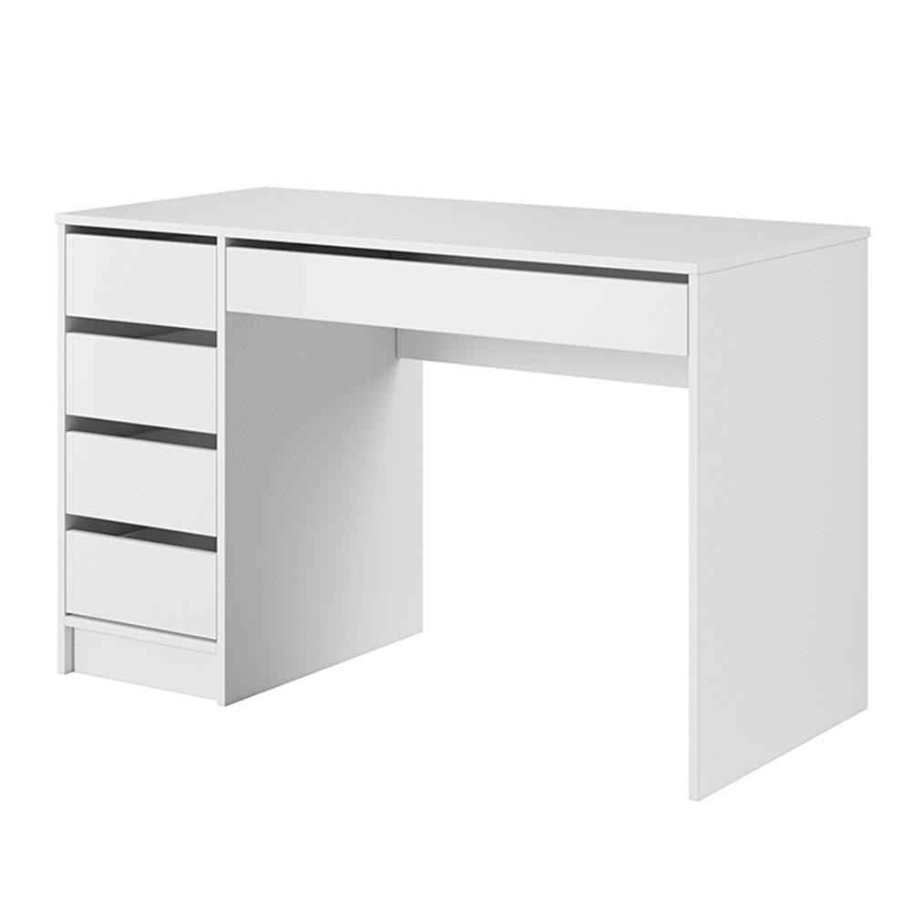 Fésülködőasztal, fehér/magas fényű fehér, DAKOTA
