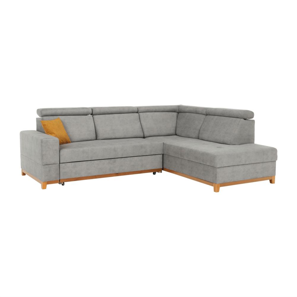 Canapea, gri deschis, model dreapta, DRENA