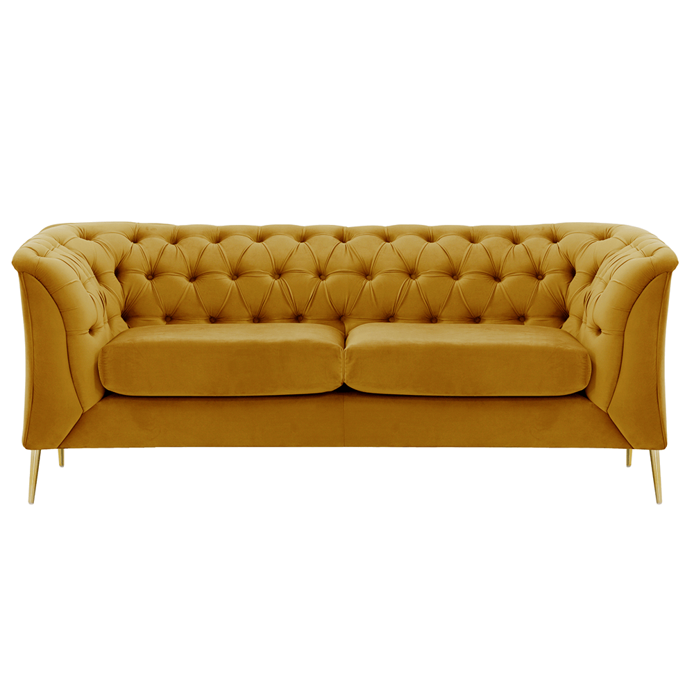 Canapea cu 2-locuri de lux, auriu, NIKOL 2 ML