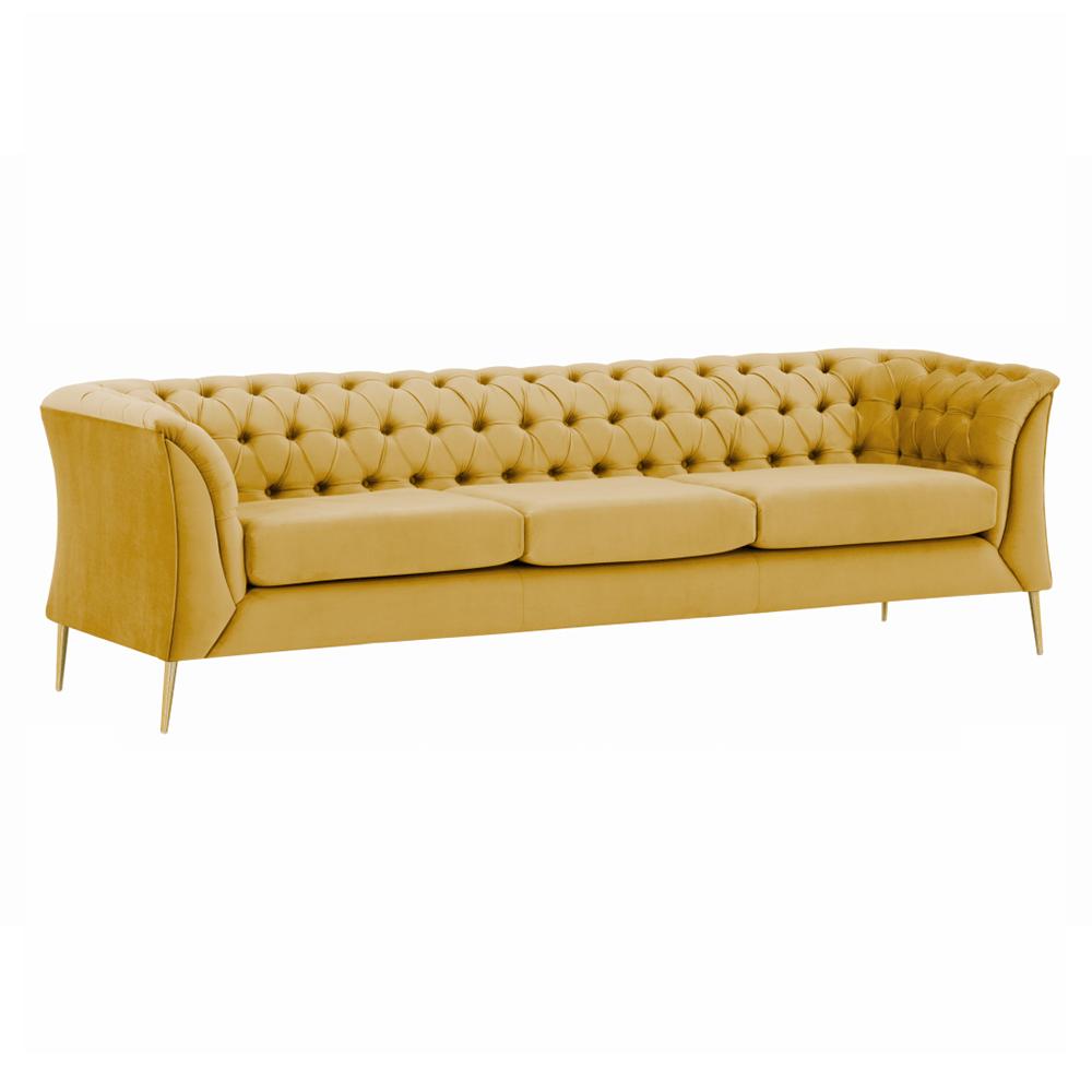 Canapea cu 3-locuri de lux, auriu, la comandă, NIKOL 3 ML