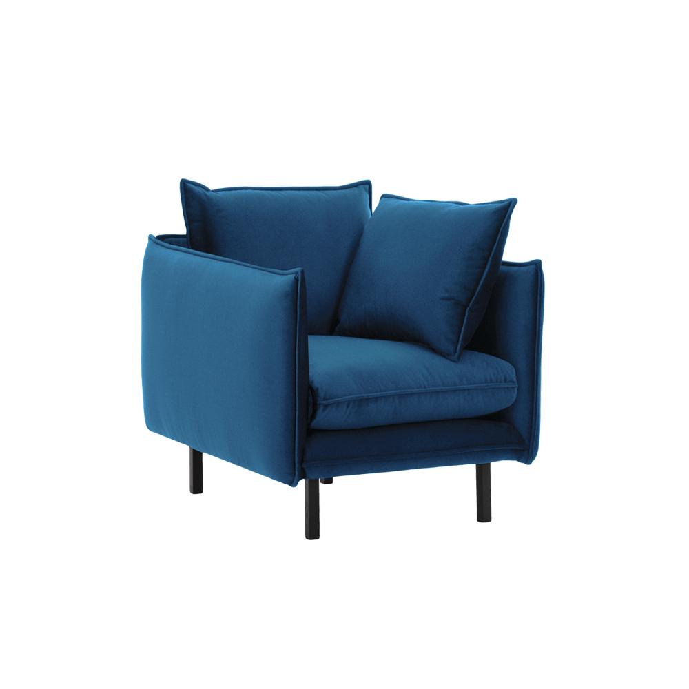 Fotoliu de lux, albastru parizian, VINSON 1