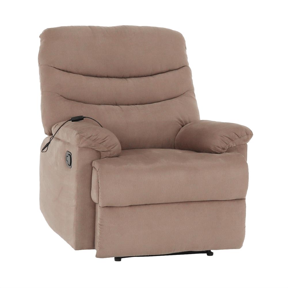 Állítható masszázs  fotel, fekete bársony anyag, LAMBERT