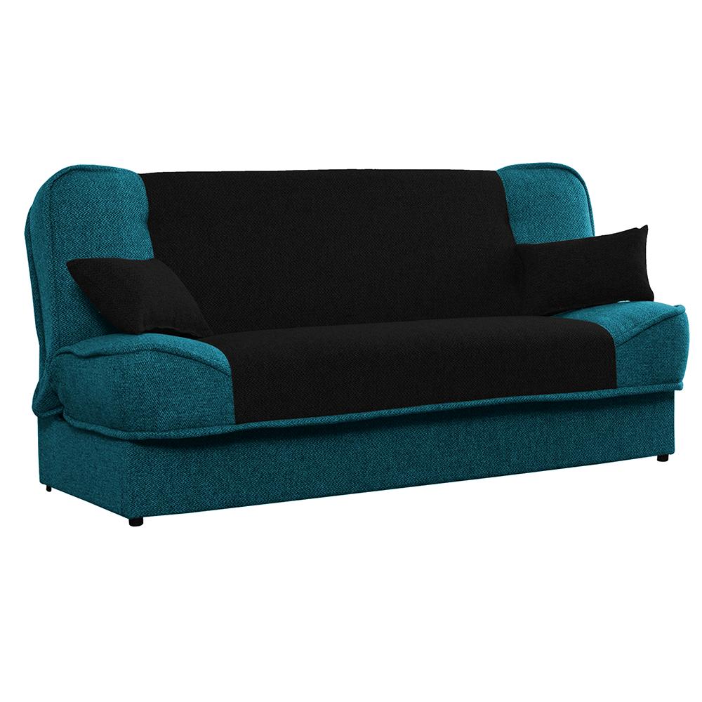 Canapea extensibilă, turcoaz/negru, ASIA NEW