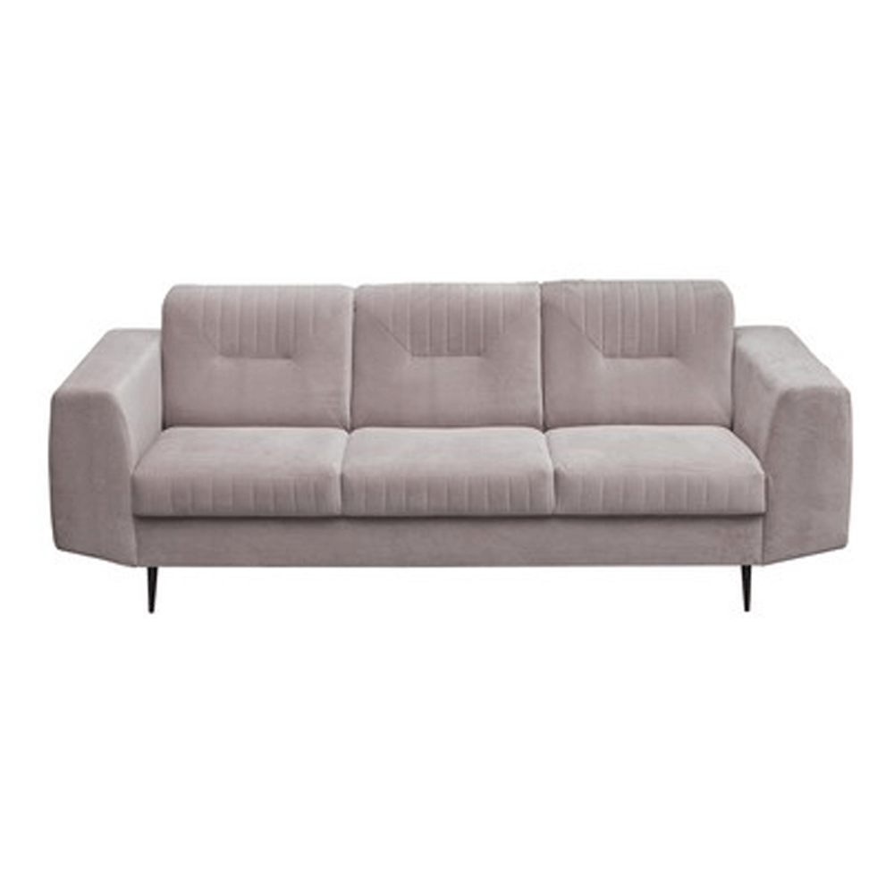 Canapea cu 3-locuri, gri deschis/negru, LEXUS