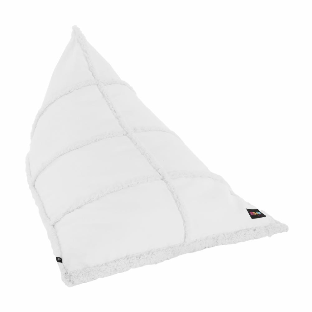 Fotoliu tip sac, material textil alb, KENTAL