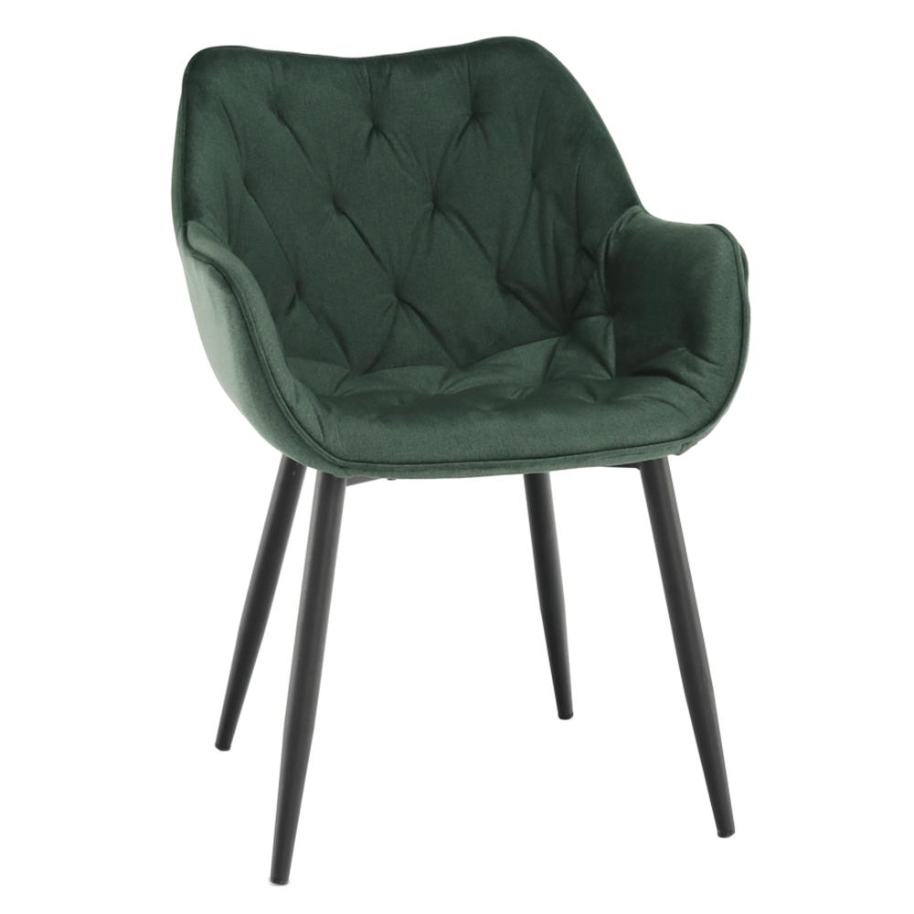 Fotoliu de design, material textil Velvet verde, FEDRIS