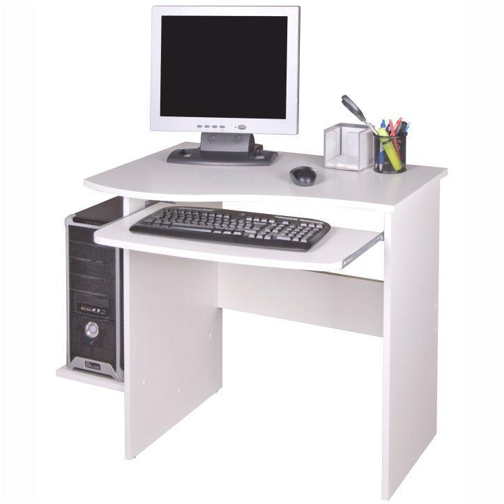 PC stôl, biela, na bielom pozadí, MELICHAR