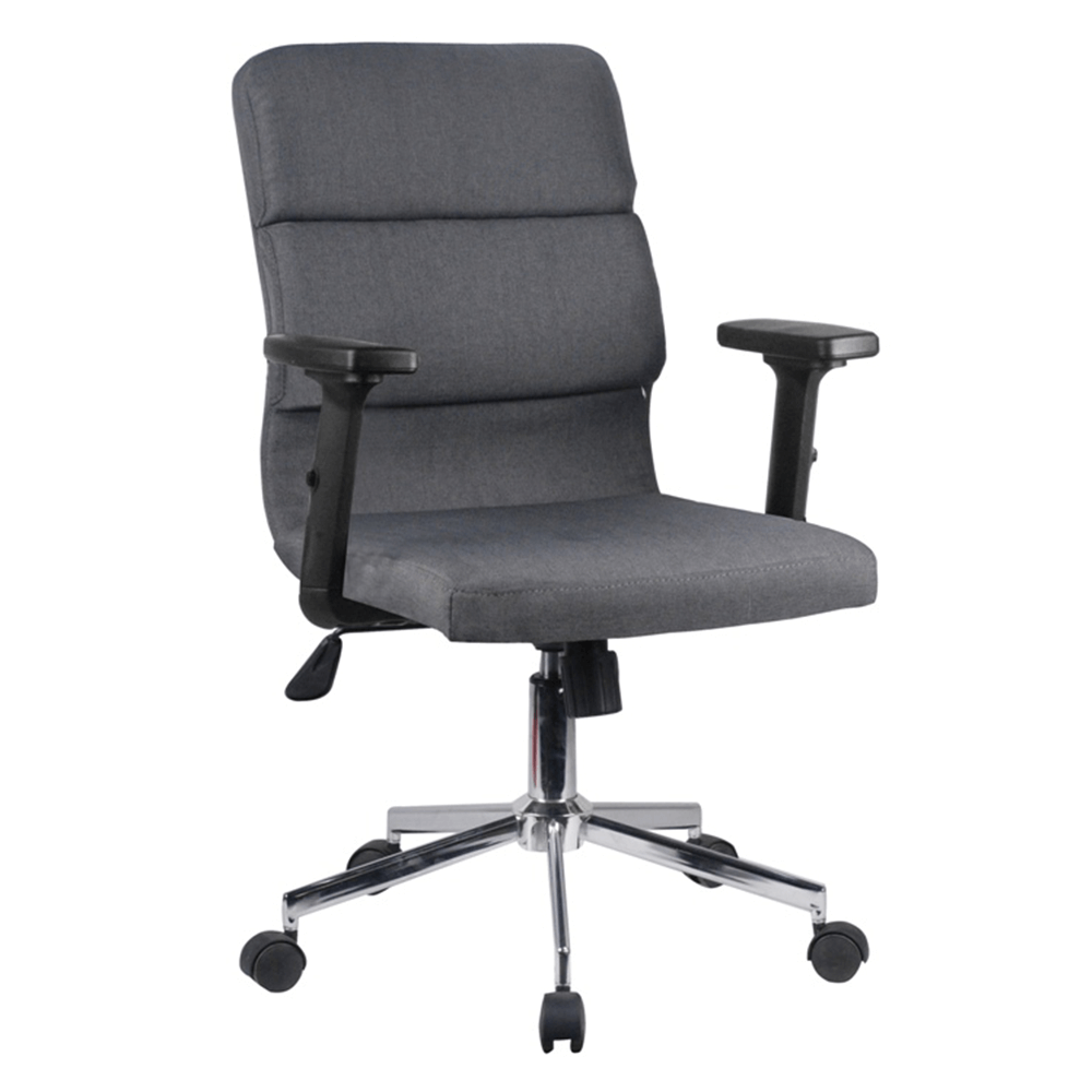 Irodai szék, szürke/króm, DARLOS NEW
