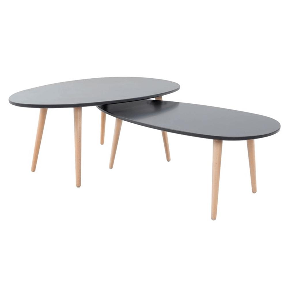 Asztal szett, szürke/szürke, DOBLO
