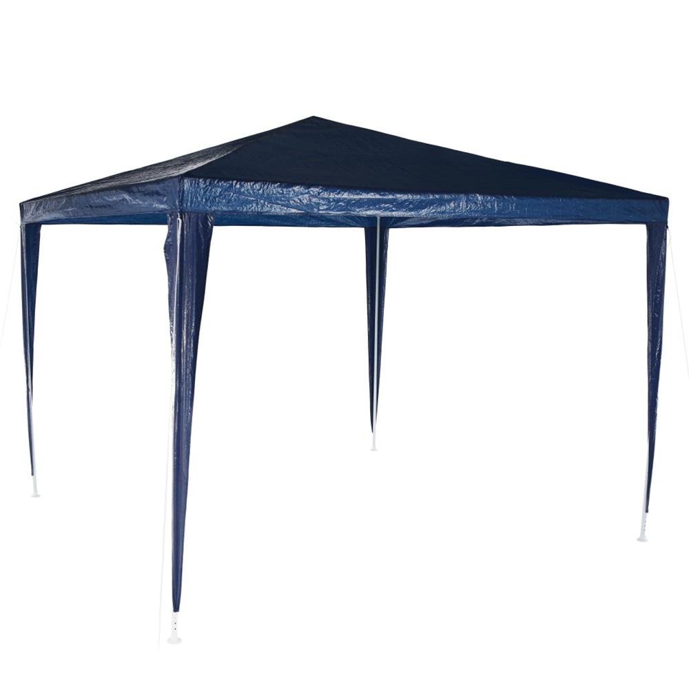 Pavilion grădină/foişor, albastru, 3x3 m, GOTAN