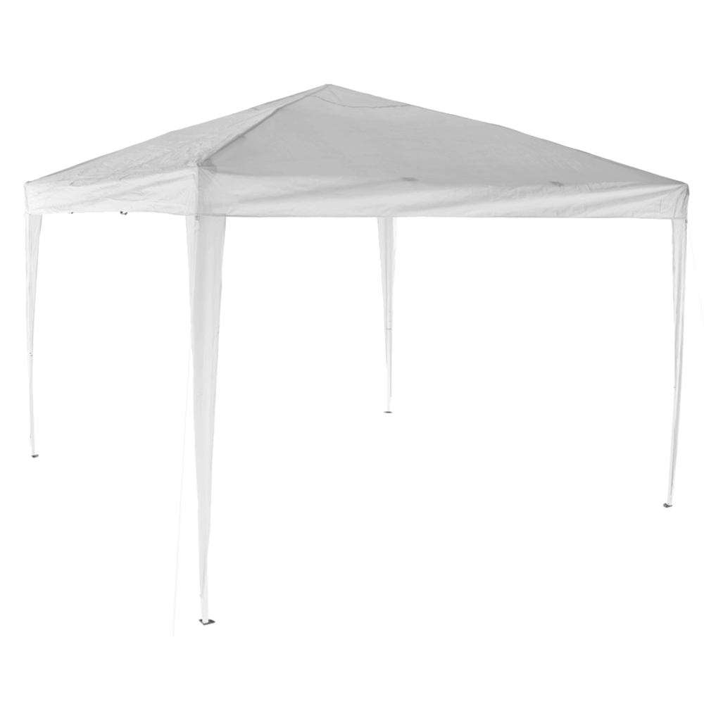 Pavilion de grădină pliabil, alb, 2x2 m, TREKAN TIP