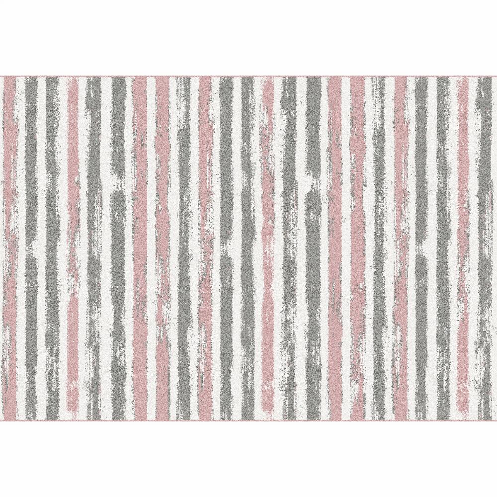 Covor, roz/gri/alb, 67x120, KARAN