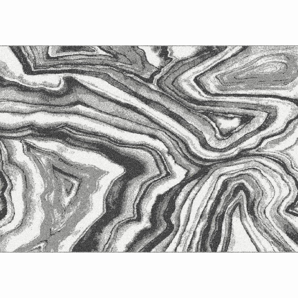 Covor,  alb/negru/model, 57x90, SINAN