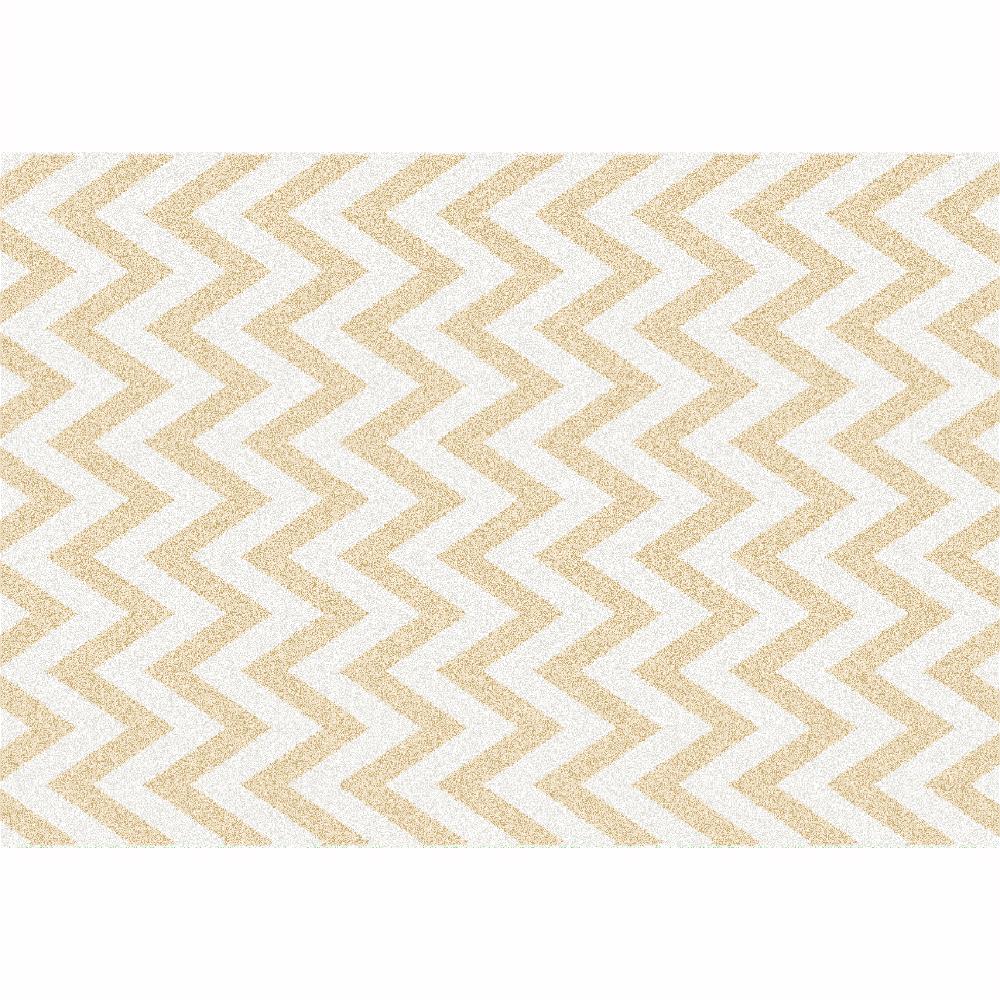 Covor, bej/model alb, 133x190, ADISA TYP 2
