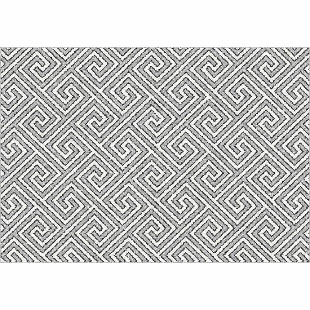 Covor, alb/gri/model, 57x90, GADIR