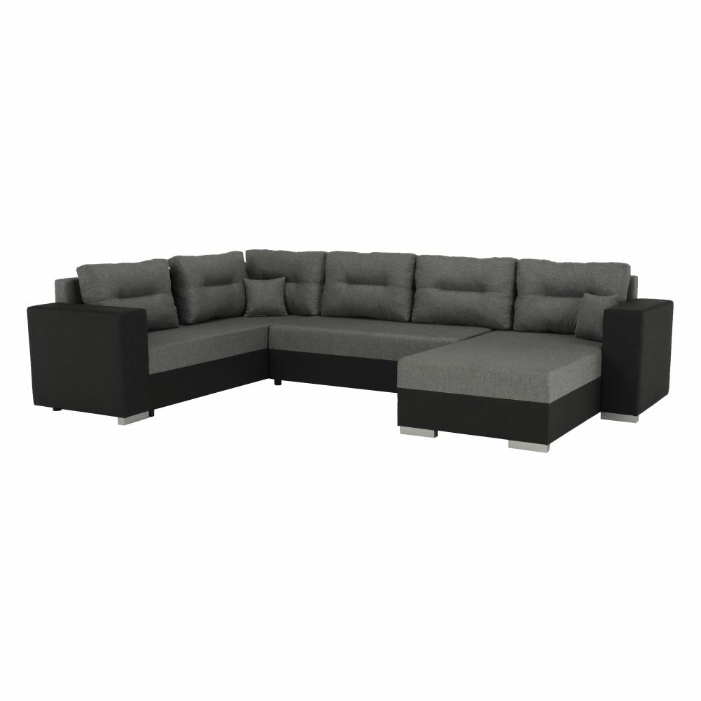 Univerzális ülőgarnitúra, sötétszürke/szürke, MERSI