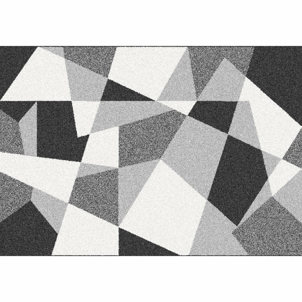 Covor, negru/gri/alb, 57x90, SANAR