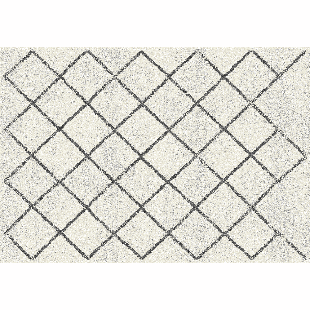 Covor, bej/model, 67x120, MATES TYP 2