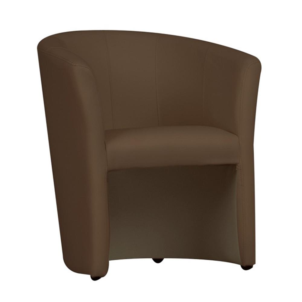 Fotel, barna textilbőr, CUBA