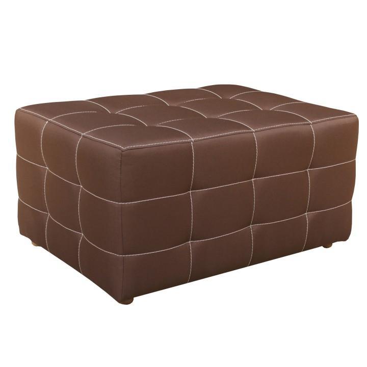 Veľký taburet,  čokoládová, na bielom pozadí, KAZARA