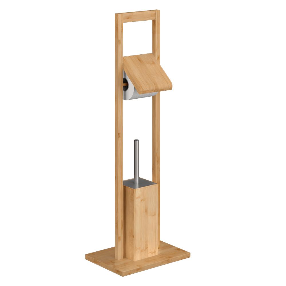 Stand pentru toaletă, bambus natural lăcuit, KARLOS