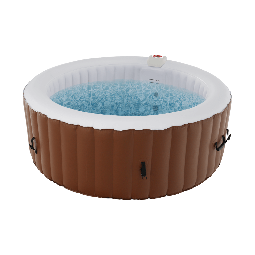Jacuzzi gonflabil, maro/alb, 2-4 pers., 800 l, KAMINO TYP 1
