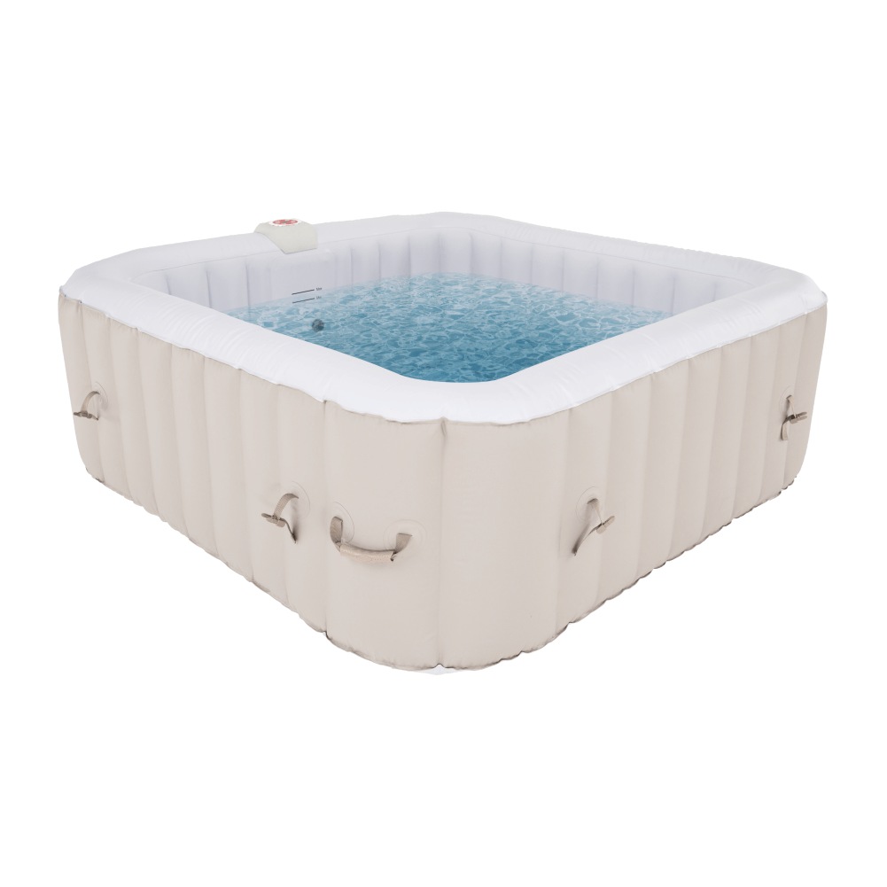 Jacuzzi gonflabil, gri maroniu Taupe/alb, 4-6 pers., 910 l, KAMINO TYP 4