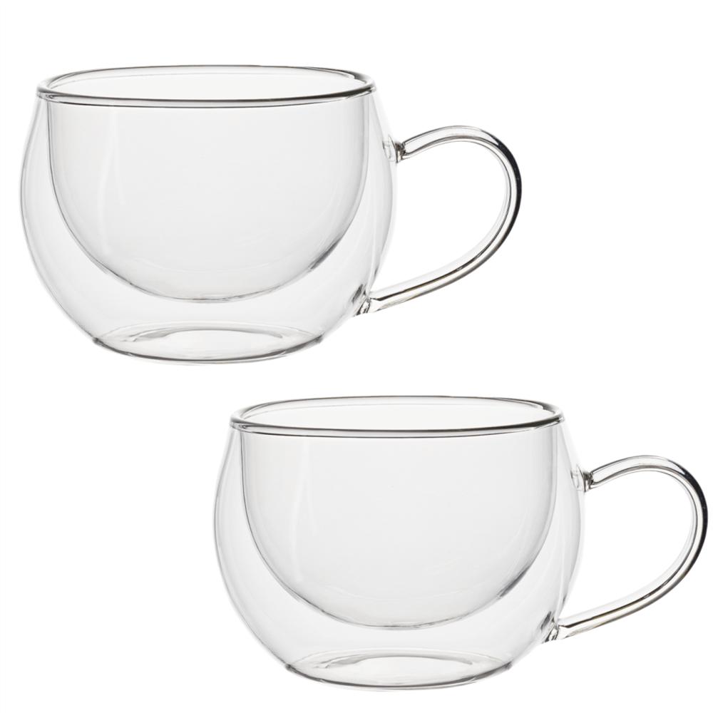 Pahar ceaşcă termic pentru cappuccino, 2buc, 280ml, HOTCOOL TYP 1
