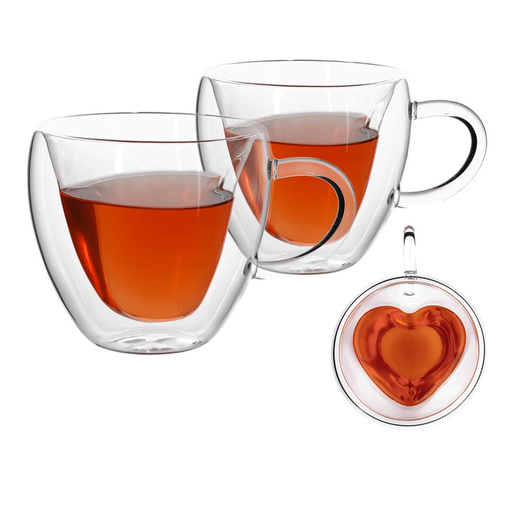 Thermo Heart pohár csésze, 2db, szív alakú, 250ml, HOTCOOL TYP 3