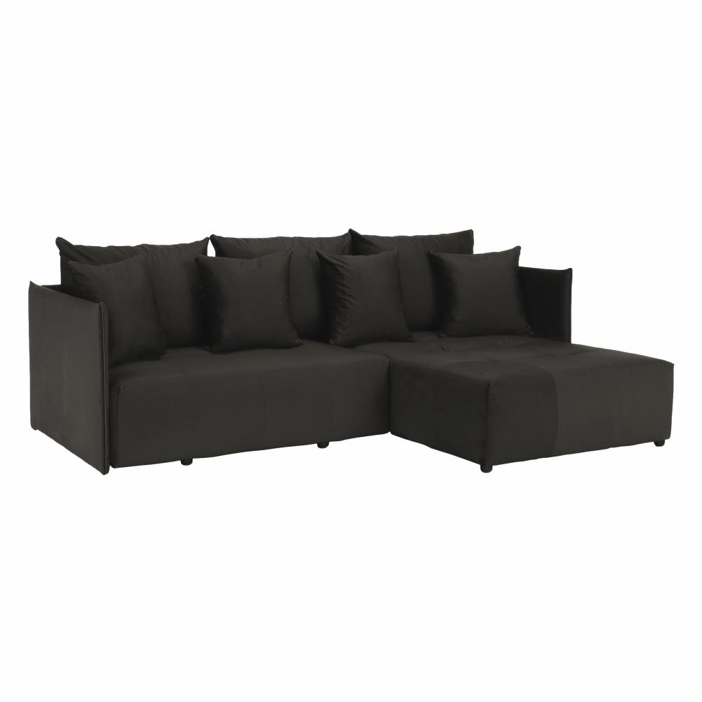 Univerzálna sedacia súprava, tmavosivá, LENY ROH, rozbalený tovar
