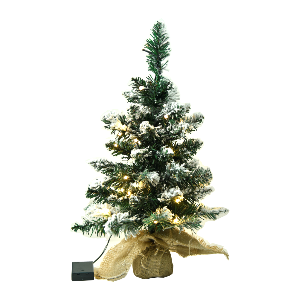 Brad cu lumini, înzăpezit, 60cm, CHRISTMAS 1