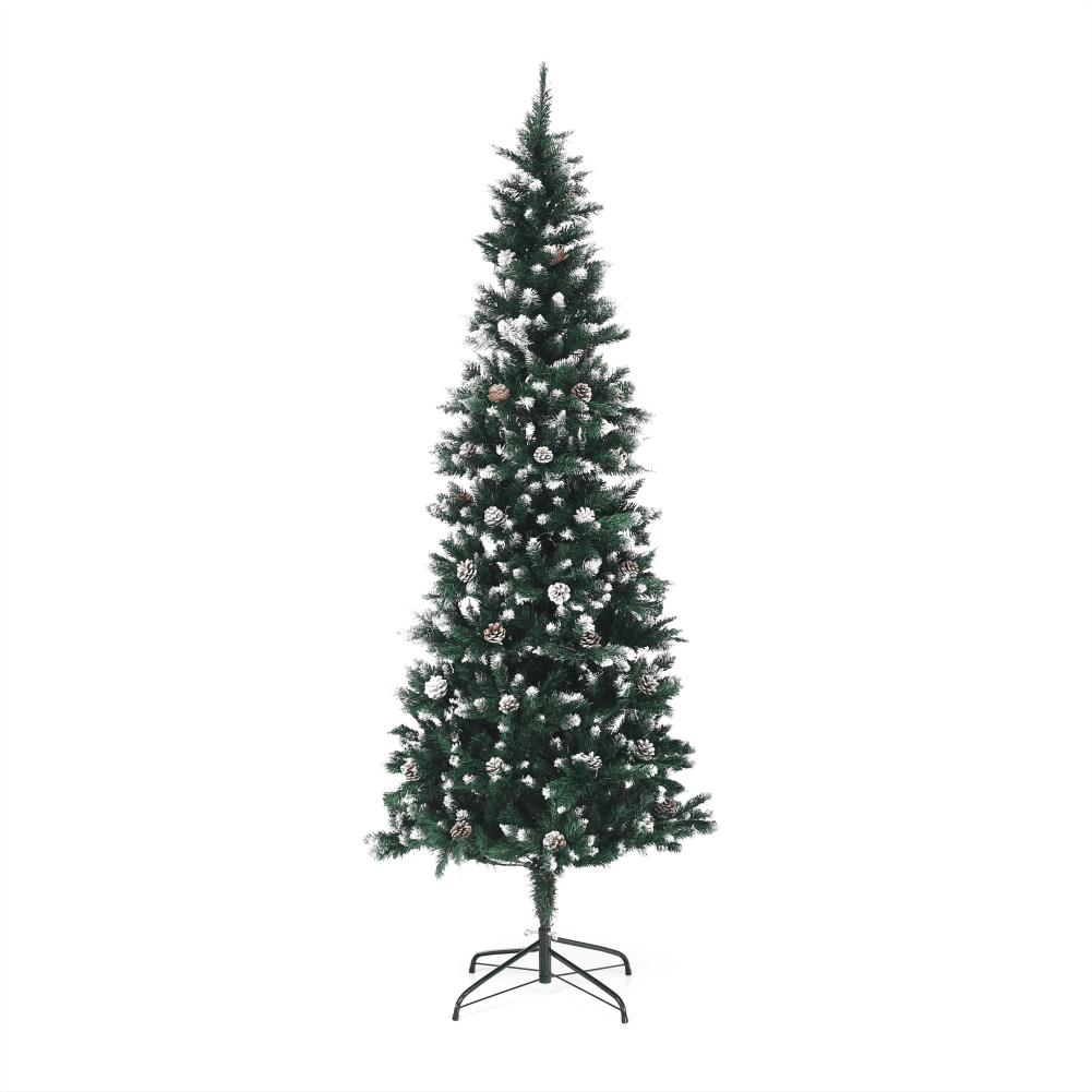Brad cu conuri, cu zăpadă, 210 cm, CHRISTMAS TYP 2