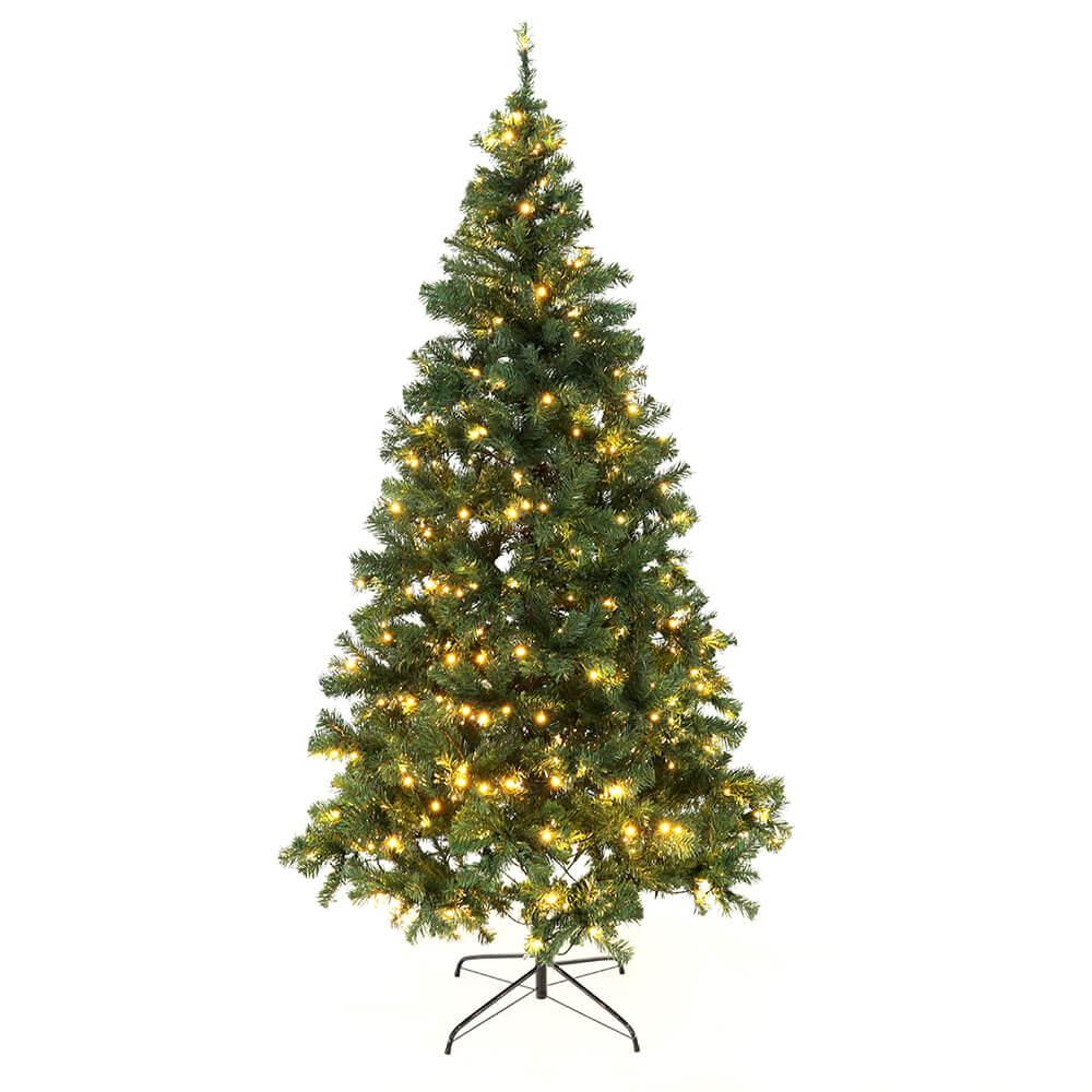 Brad de Crăciun Cu lumini, verde, 220 cm, LED 450, CHRISTMAS TYP 5
