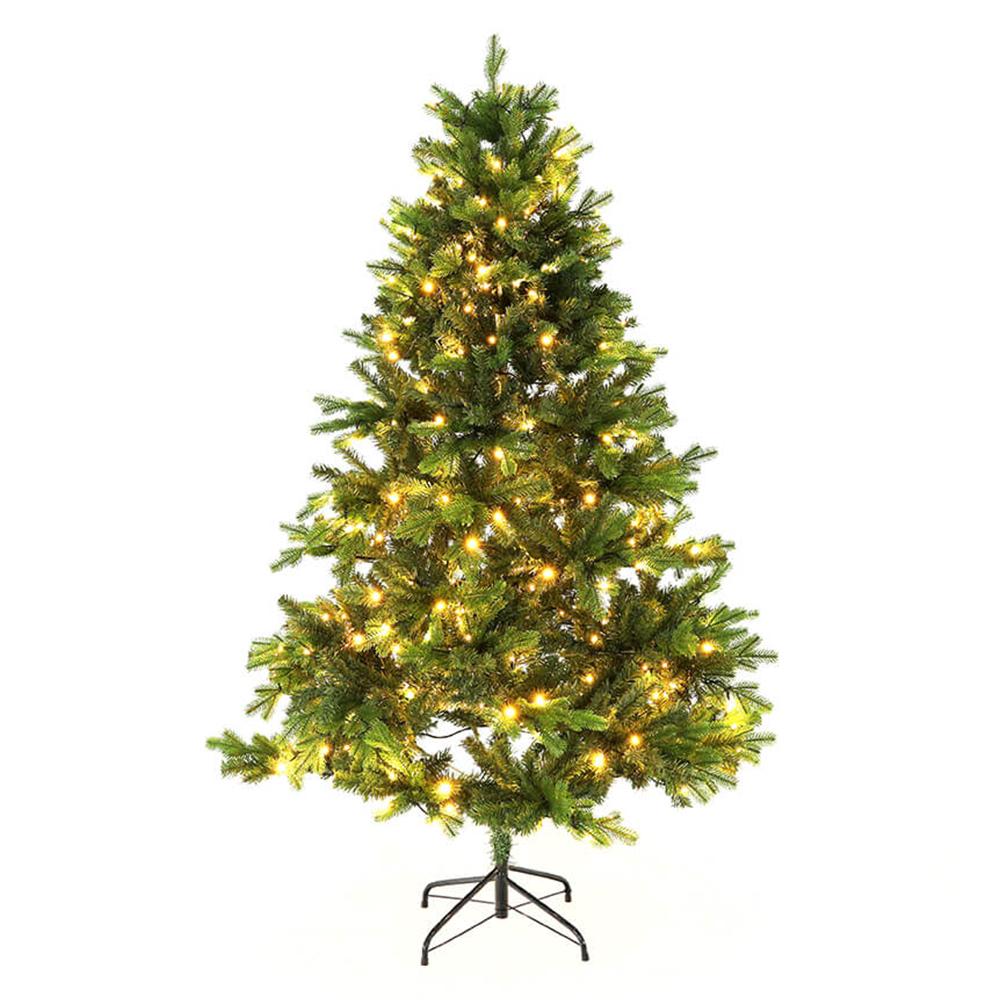Brad de Crăciun de calitate 3D, cu lumini, verde, 180 cm, LED 300, CHRISTMAS TYP 6